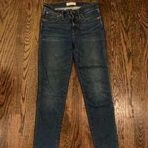 "Made well 8"" high rise skinny jeans"